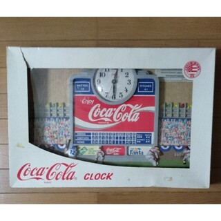 コカコーラ(コカ・コーラ)のコカコーラ 壁掛け時計 ビンテージ レトロコカ・コーラのクロック(掛時計/柱時計)