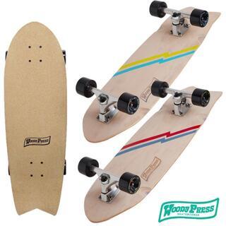 ウッディプレス 30インチ スケートボード コンプリート カービング ピンク(スケートボード)