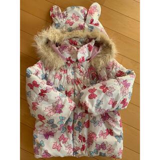 ミニケー(MINI-K)の女の子 120 中綿ジャンパー うさ耳フード (ジャケット/上着)
