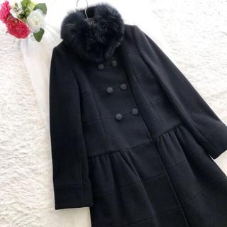 TO BE CHIC - 極美品‼️【トゥービーシック】8万円フォックスファー付きウールコート ブラック