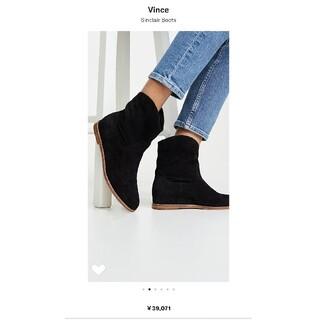 ビンス(Vince)のVINCE ビンス スウェード ショートブーツ ブラック 黒 冬(ブーツ)
