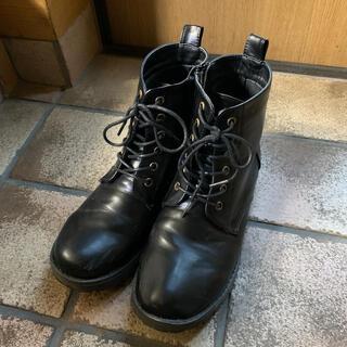 エヘカソポ(ehka sopo)のehkasopo ブーツ 黒 24cm(ブーツ)