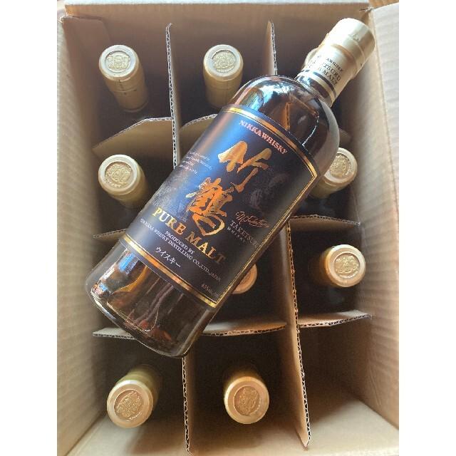 ニッカウヰスキー(ニッカウイスキー)の竹鶴 黒 ピュアモルト 終売 700ml 12本 食品/飲料/酒の酒(ウイスキー)の商品写真