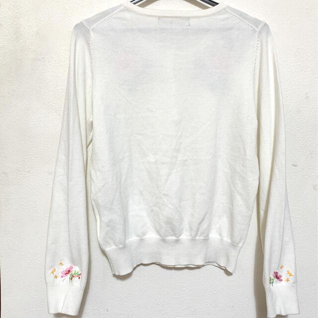 QUEENS COURT(クイーンズコート)のクイーンズコート 刺繍カーディガン レディースのトップス(カーディガン)の商品写真