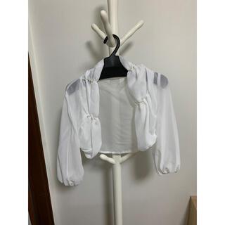 エンジェルアール(AngelR)のパール付き ホワイト ボレロ ドレス キャバ嬢(ボレロ)