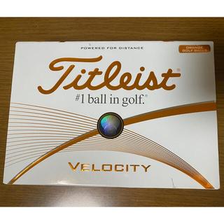 タイトリスト(Titleist)のタイトリスト Titleist VELOCITY ゴルフ ボール 新品 オレンジ(その他)