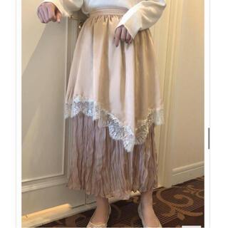 ナイスクラップ(NICE CLAUP)のpetiteフリルスカート ❤︎ ankrouge rili tokyo(ロングスカート)