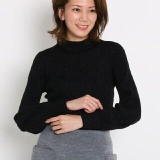 エージーバイアクアガール(AG by aquagirl)のうさぎ様専用 美品☆AG by aquagirl☆ラメリブハイネックニット黒(ニット/セーター)