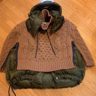 サカイ(sacai)のsacai 19aw コレクションライン Cable knit Coat (ダウンジャケット)