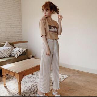 ロキエ(Lochie)のdot mellow pleats pants(ivory)(カジュアルパンツ)