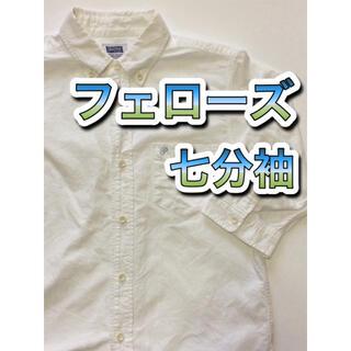 フェローズ(PHERROW'S)の【美品】 Pherrow's フェローズ 七分袖シャツ 日本製 14,000円(シャツ)