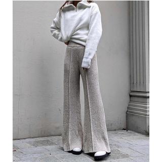 完売品 aclent Mix knit relax pants