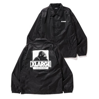 XLARGE EMBROIDERY OG COACHES JACKET 黒 S