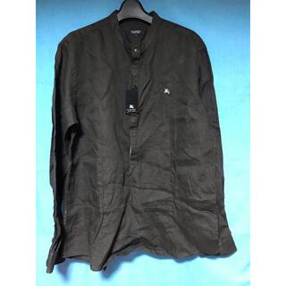 バーバリーブラックレーベル(BURBERRY BLACK LABEL)の新品タグ付きバーバリーブラックレーベル麻シャツL(シャツ)