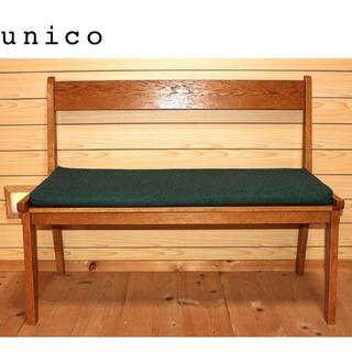 ウニコ(unico)の UNICOウニコ CORSOコルソベンチ/グリーン(ダイニングチェア)