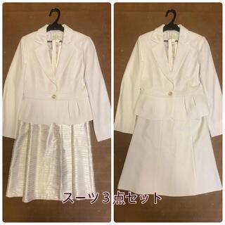 シマムラ(しまむら)の入学式 フォーマル スーツ ワンピース 3点セット 11号 華やか(スーツ)