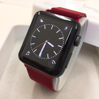 アップルウォッチ(Apple Watch)のApple Watch series2 黒 42mm アップルウォッチ(その他)