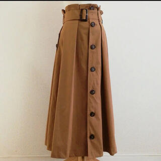 レディメイド(LADY MADE)のタグあり、試着のみ レディメイド トレンチ スカート キャメル(ロングスカート)