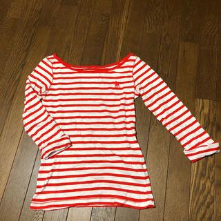 アバクロンビーアンドフィッチ(Abercrombie&Fitch)のアバクロ ボーダーシャツ レディース Sサイズ 七分袖 (Tシャツ(長袖/七分))