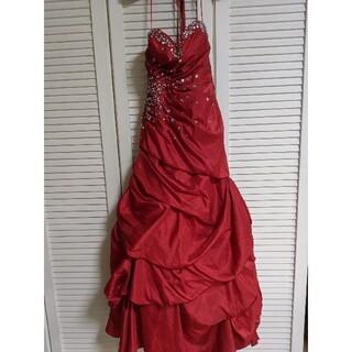 ビーシービージーマックスアズリア(BCBGMAXAZRIA)のゴージャス ロング レッドドレス(ロングドレス)