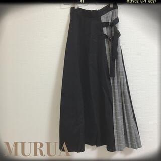 ムルーア(MURUA)の値下げ!MURUAサイドベルト切替マキシスカート(ひざ丈スカート)