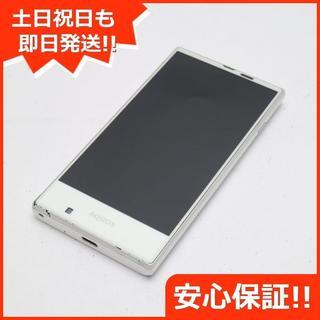 シャープ(SHARP)の美品 au SHV31 AQUOS SERIE mini ホワイト (スマートフォン本体)