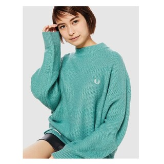【FRED PERRY】pique sweater