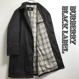 バーバリーブラックレーベル ダウン コート ノバチェック Mサイズ ブラウン