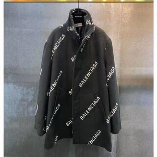 バレンシアガ(Balenciaga)の【BALENCIAGA】バレンシアガ ロゴ Aライン コート(テーラードジャケット)