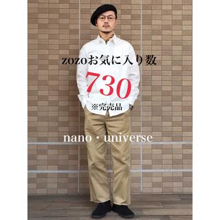 ナノユニバース(nano・universe)のナノユニバース 2020 美品 人気 白シャツ 完売品(シャツ)