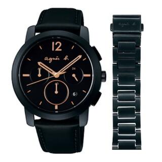 アニエスベー(agnes b.)のアニエスベー 腕時計 agnes b. メンズ クロノグラフ スペアベルト付き (腕時計(アナログ))