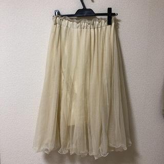 ヘザー(heather)のチュールスカート(ひざ丈スカート)