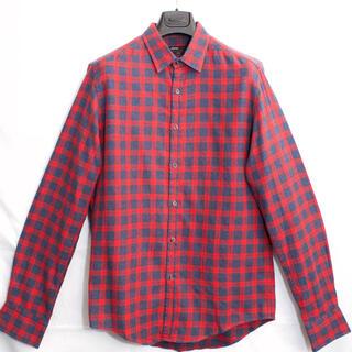 ブルネロクチネリ(BRUNELLO CUCINELLI)の[美品] STEFANO CONTI ネルシャツ チェックシャツ イタリア製 L(シャツ)
