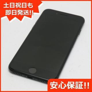 アイフォーン(iPhone)の良品中古 DoCoMo iPhone7 128GB ジェットブラック(スマートフォン本体)
