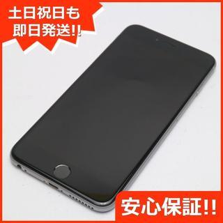 アイフォーン(iPhone)の超美品 DoCoMo iPhone6 PLUS 64GB スペースグレイ (スマートフォン本体)