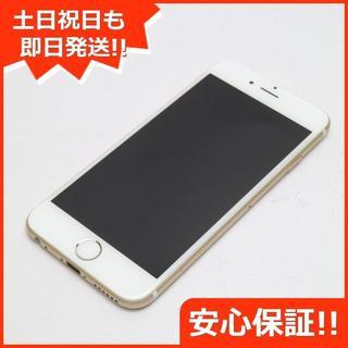アイフォーン(iPhone)の美品 DoCoMo iPhone6 64GB ゴールド 白ロム(スマートフォン本体)