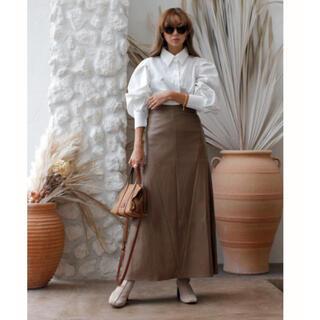 ルームサンマルロクコンテンポラリー(room306 CONTEMPORARY)のroom306CONTEMPORARY Leather Flare Skirt (ロングスカート)