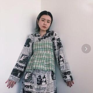 Drawer - 美品 Lyta リタ ツイードビスチェ 黒 アイボリー