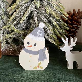 【新作】北欧 クリスマス の可愛い スノーマン オブジェ(小)【雪だるま】(インテリア雑貨)