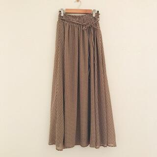スタディオクリップ(STUDIO CLIP)の幾何プリントロングスカート(ロングスカート)