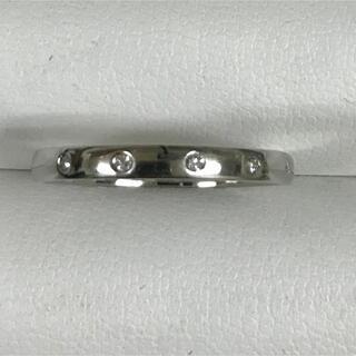 ★大きめの22号★プラチナPt900・ダイヤモンド5Pリング★0.10ct★(リング(指輪))