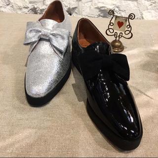 エフトゥループ(F-TROUPE)のF-TROUPE ブラックパテントエナメルシューズ(ローファー/革靴)