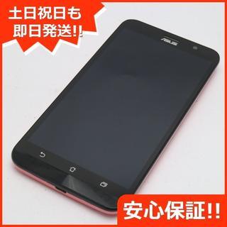 エイスース(ASUS)の美品 SIMフリー ZenFone Go ZB551KL ピンク (スマートフォン本体)