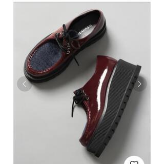 ジーナシス(JEANASIS)の厚底チロリアンシューズ 11月いっぱいまで(ローファー/革靴)