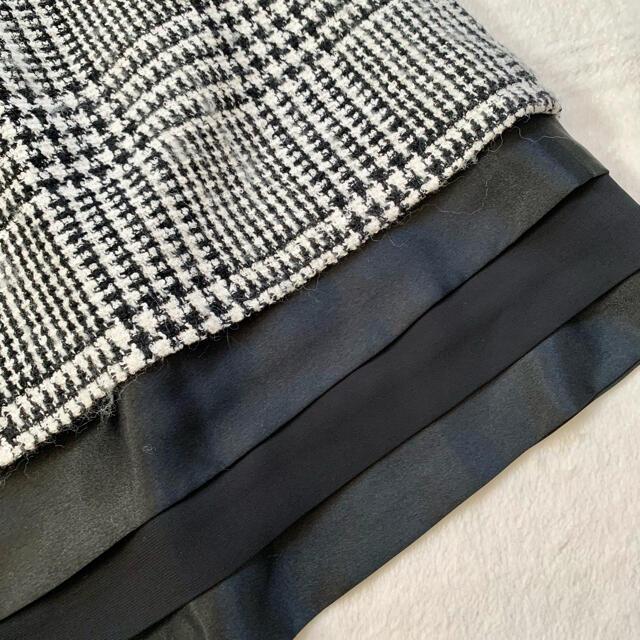 Debut de Fiore(デビュードフィオレ)のデビュードフィオレ レディな裾ティアード  ツイードスカート レディースのスカート(ひざ丈スカート)の商品写真