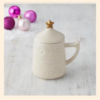 タリーズコーヒー(TULLY'S COFFEE)の専用 タリーズコーヒー オーナメントレリーフマグ(クラシックベージュ)(グラス/カップ)