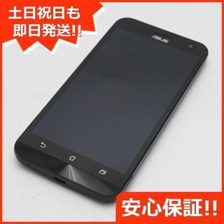 エイスース(ASUS)の美品 SIMフリー ZenFone2 Laser ZE500KL ブラック (スマートフォン本体)