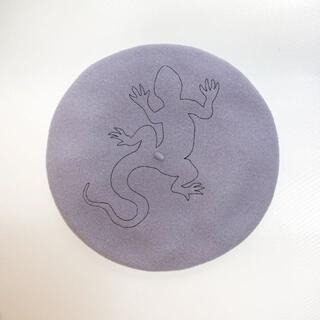 アニエスベー(agnes b.)のアニエスベー ベレー帽 グレー 美品(ハンチング/ベレー帽)