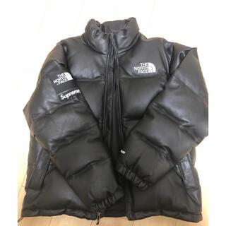 シュプリーム(Supreme)のsupreme north face 17aw Leather nuptse L(ダウンジャケット)