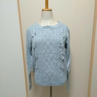 ユメテンボウ(夢展望)のNewlyme ニューリーミーブルー水色リボンニット(ニット/セーター)